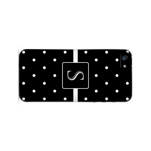 S on Classic Mini Polka Dots - Geeks Designer Line Monogram Series Hard Case for Apple iPhone 5/5S