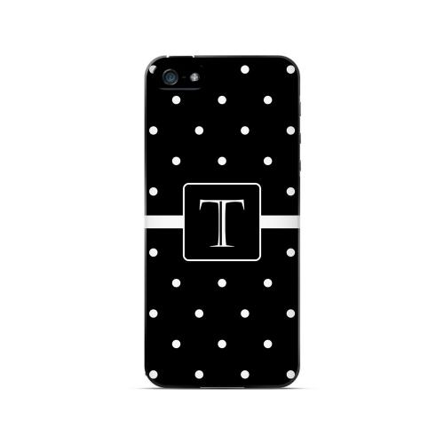 T on Classic Mini Polka Dots - Geeks Designer Line Monogram Series Hard Case for Apple iPhone 5/5S