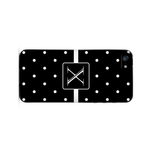 X on Classic Mini Polka Dots - Geeks Designer Line Monogram Series Hard Case for Apple iPhone 5/5S