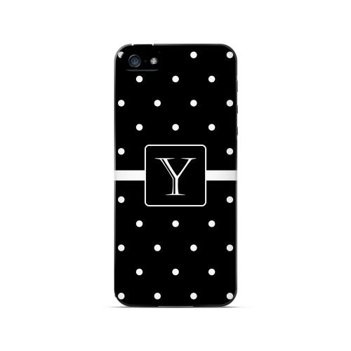 Y on Classic Mini Polka Dots - Geeks Designer Line Monogram Series Hard Case for Apple iPhone 5/5S