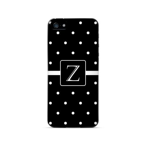 Z on Classic Mini Polka Dots - Geeks Designer Line Monogram Series Hard Case for Apple iPhone 5/5S