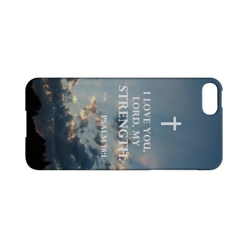Psalm 18:1 - Geeks Designer Line (GDL) Bible Verse Series Hard Back Cover for Apple iPhone 5/5S