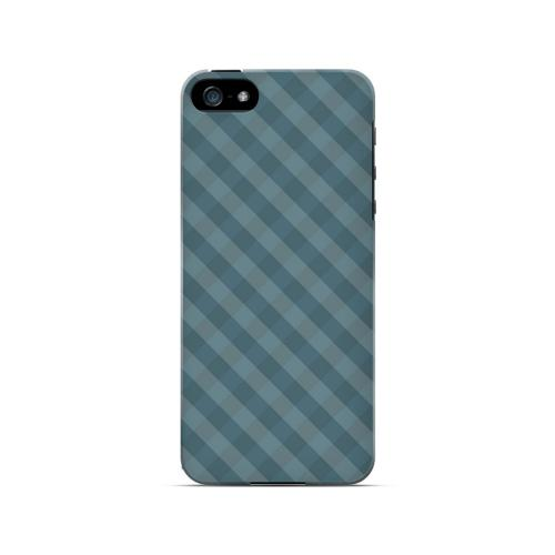 Blue/ Green/ White/ Gray Plaid - Geeks Designer Line Checker Series Hard Case for Apple iPhone 5/5S