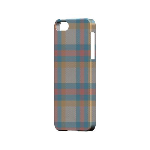 Blue/ Pink/ Orange Plaid Fabric - Geeks Designer Line Checker Series Hard Case for Apple iPhone 5/5S