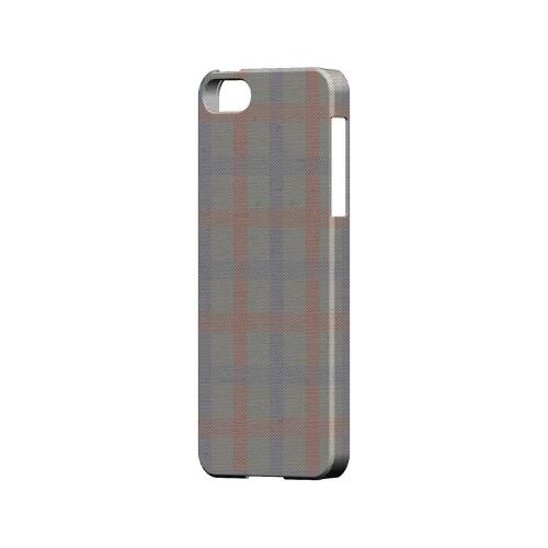Faint Red/ Blue/ Gray Plaid - Geeks Designer Line Checker Series Hard Case for Apple iPhone 5/5S
