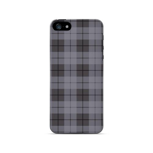 Grayish Plaid - Geeks Designer Line Checker Series Hard Case for Apple iPhone 5/5S