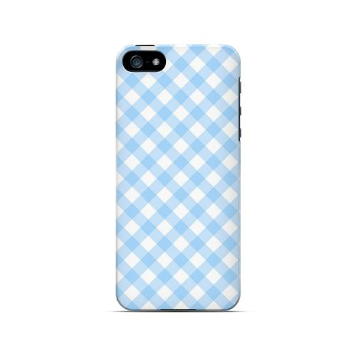 Light Blue Plaid - Geeks Designer Line Checker Series Hard Case for Apple iPhone 5/5S