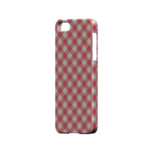 Light Red Plaid - Geeks Designer Line Checker Series Hard Case for Apple iPhone 5/5S