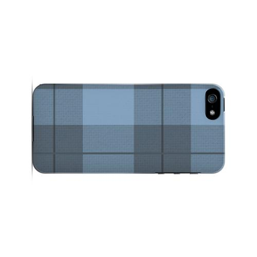 Off-Centered Zoom Blue Plaid - Geeks Designer Line Checker Series Hard Case for Apple iPhone 5/5S