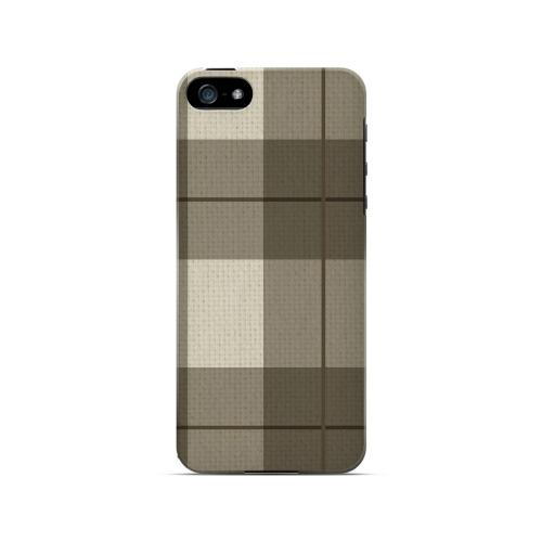 Off-Centered Zoom Brown Plaid - Geeks Designer Line Checker Series Hard Case for Apple iPhone 5/5S