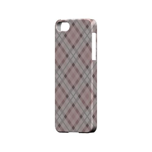 Pink/ Gray Plaid - Geeks Designer Line Checker Series Hard Case for Apple iPhone 5/5S