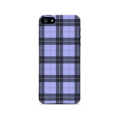 Scottish-Like Plaid in Purple - Geeks Designer Line Checker Series Hard Case for Apple iPhone 5/5S