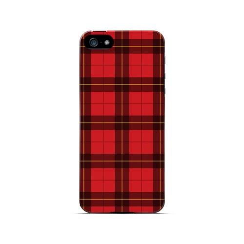 Scottish-Like Plaid in Red - Geeks Designer Line Checker Series Hard Case for Apple iPhone 5/5S