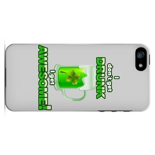 I Get Awesome - Geeks Designer Line Holiday Series Hard Case for Apple iPhone 5/5S