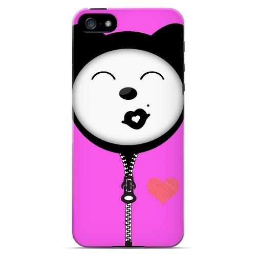 Kissycat - Geeks Designer Line Hoodie Kitty Series Hard Case for Apple iPhone 5/5S