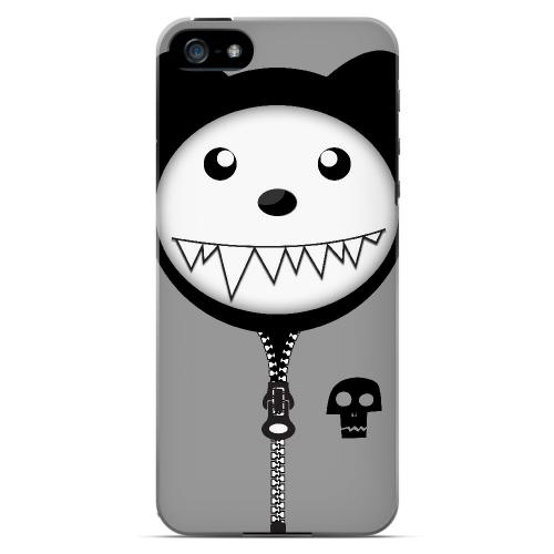 Grimmycat - Geeks Designer Line Hoodie Kitty Series Hard Case for Apple iPhone 5/5S