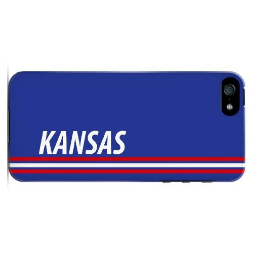 Kansas - Geeks Designer Line March Madness Series Hard Case for Apple iPhone 5/5S