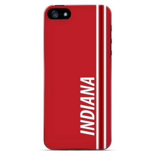 Indiana - Geeks Designer Line March Madness Series Hard Case for Apple iPhone 5/5S