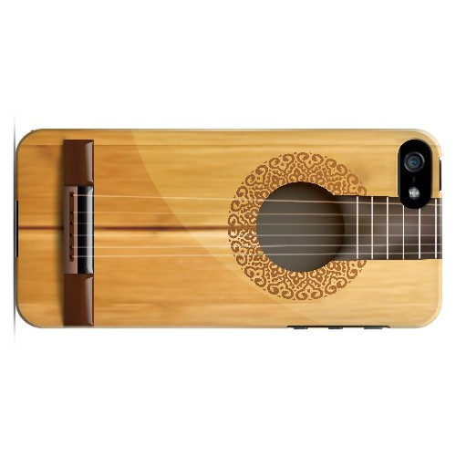 Acoustic Guitar - Geeks Designer Line Music Series Hard Case for Apple iPhone 5/5S