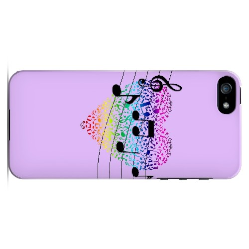 Earful of Color - Geeks Designer Line Music Series Hard Case for Apple iPhone 5/5S