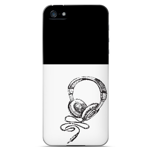 Head Bobbing Black - Geeks Designer Line Music Series Hard Case for Apple iPhone 5/5S