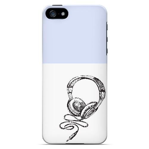 Head Bobbing Faint Blue - Geeks Designer Line Music Series Hard Case for Apple iPhone 5/5S