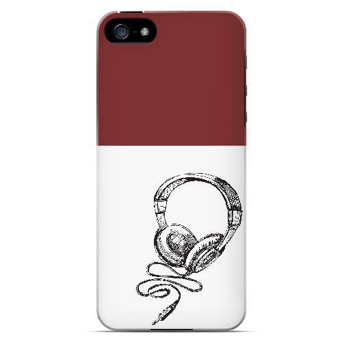 Head Bobbing Maroon - Geeks Designer Line Music Series Hard Case for Apple iPhone 5/5S