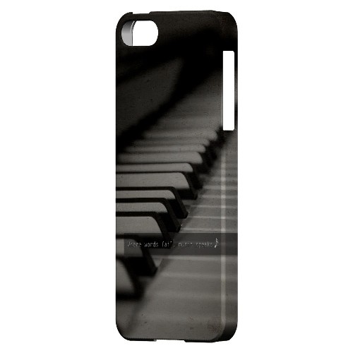 Music Speaks - Geeks Designer Line Music Series Hard Case for Apple iPhone 5/5S