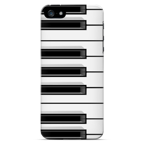 Piano Keys - Geeks Designer Line Music Series Hard Case for Apple iPhone 5/5S