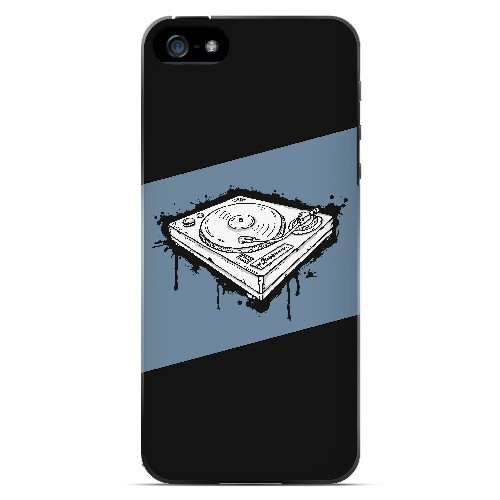 Wheel of Steel Blue - Geeks Designer Line Music Series Hard Case for Apple iPhone 5/5S