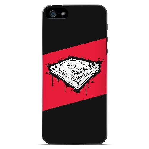 Wheel of Steel Red - Geeks Designer Line Music Series Hard Case for Apple iPhone 5/5S