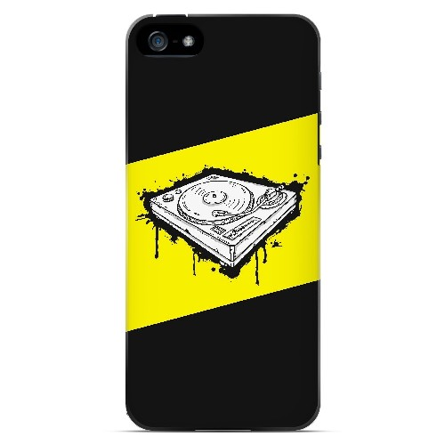 Wheel of Steel Yellow - Geeks Designer Line Music Series Hard Case for Apple iPhone 5/5S