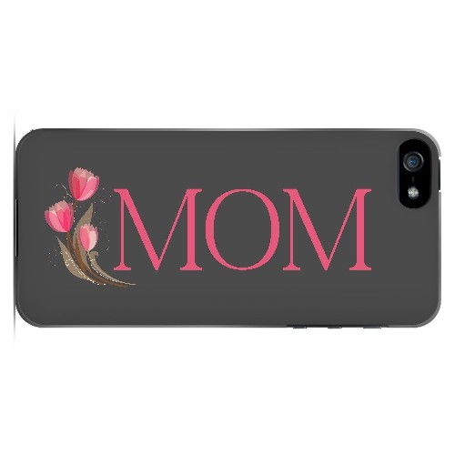 Tulips Mom - Geeks Designer Line Mom Series Hard Case for Apple iPhone 5/5S