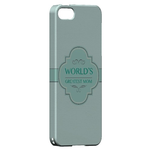 Vintage World's Greatest Mom - Geeks Designer Line Mom Series Hard Case for Apple iPhone 5/5S
