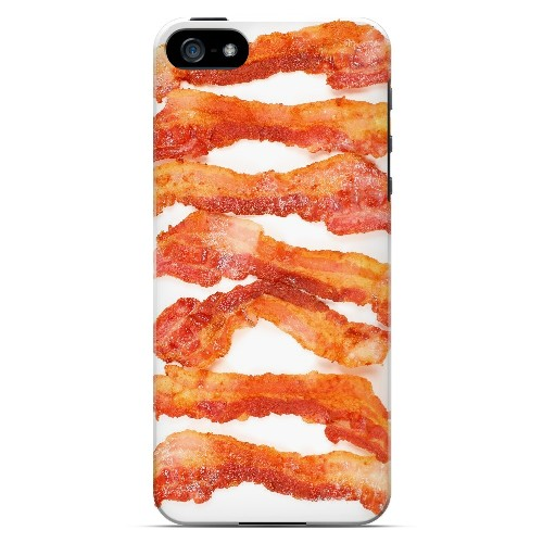 Bacon Goes Good - Geeks Designer Line Humor Series Hard Case for Apple iPhone 5/5S