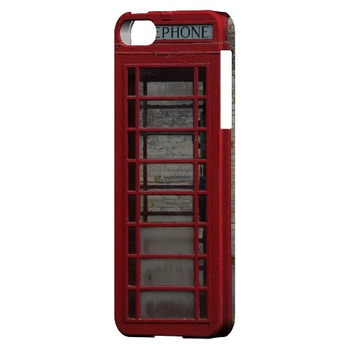 English Telephone Booth - Geeks Designer Line Humor Series Hard Case for Apple iPhone 5/5S