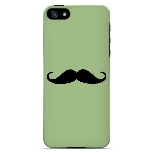 Mustache Greenish - Geeks Designer Line Humor Series Hard Case for Apple iPhone 5/5S