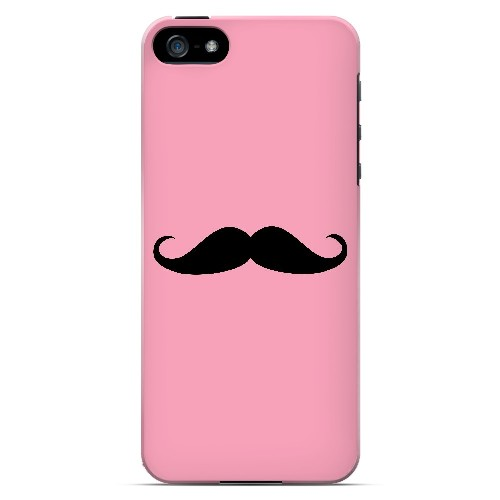 Mustache Pink - Geeks Designer Line Humor Series Hard Case for Apple iPhone 5/5S