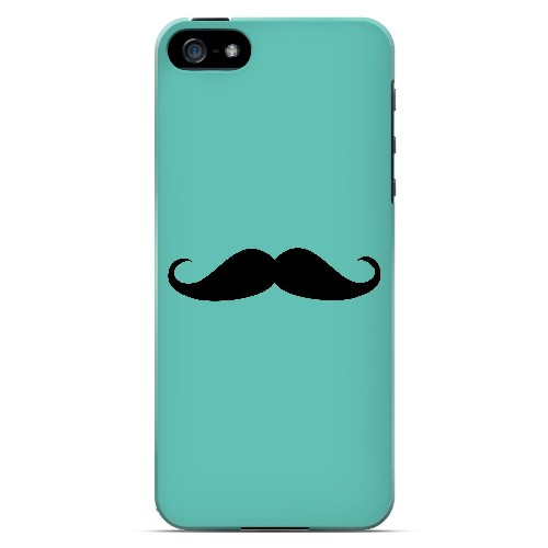 Mustache Teal - Geeks Designer Line Humor Series Hard Case for Apple iPhone 5/5S
