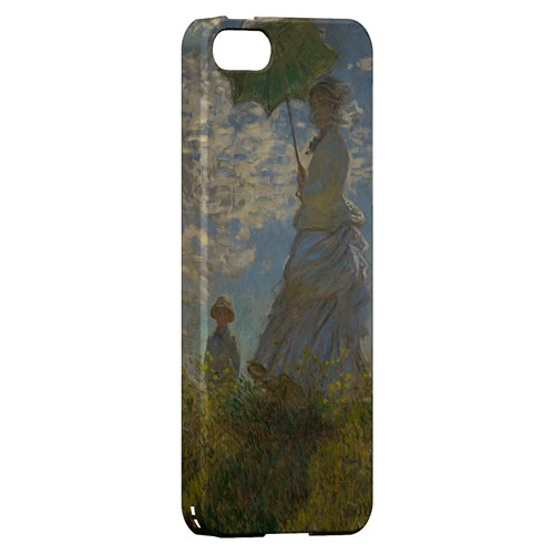 Woman with a Parasol - Madame Monet and Her Son by Claude Monet - Geeks Designer Line Artist Series Hard Case for Apple iPhone 5/5S