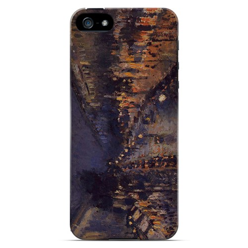 Boulevard Montmarte at Night by Camille Pisarro - Geeks Designer Line Artist Series Hard Case for Apple iPhone 5/5S