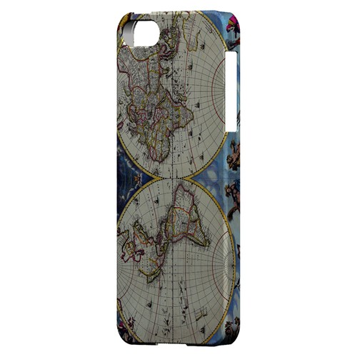 Terrarum Orbis Tabula Pictomap - Geeks Designer Line Map Series Hard Case for Apple iPhone 5/5S