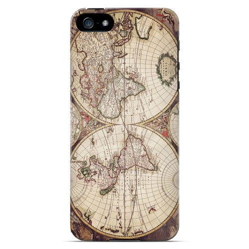 Terrarum Orbis - Geeks Designer Line Map Series Hard Case for Apple iPhone 5/5S