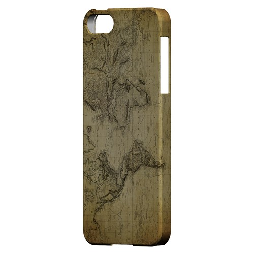 Vintage World Map Circa 1800's - Geeks Designer Line Map Series Hard Case for Apple iPhone 5/5S