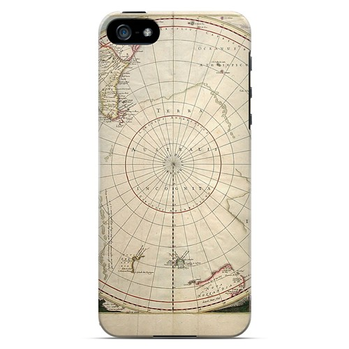 Terra Australis Incognita - Geeks Designer Line Map Series Hard Case for Apple iPhone 5/5S