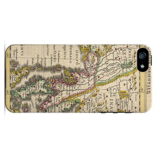 Indie Orientale - Geeks Designer Line Map Series Hard Case for Apple iPhone 5/5S