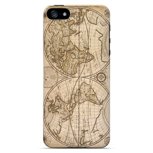 Carte Generale du Monde 1676 - Geeks Designer Line Map Series Hard Case for Apple iPhone 5/5S