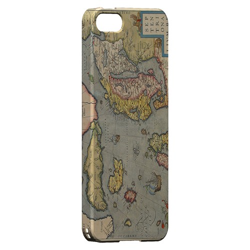 Ancient Map of Europe - Geeks Designer Line Map Series Hard Case for Apple iPhone 5/5S