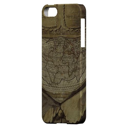 Ancient Map Head - Geeks Designer Line Map Series Hard Case for Apple iPhone 5/5S
