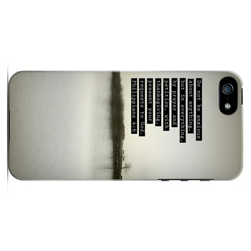 Philippians 4:6 - Geeks Designer Line Bible Series Hard Case for Apple iPhone 5/5S